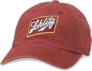 American Needle Ballpark Schlitz Beer Baseball Dad Hat (PBC-1901E-CINN) Cinnabar