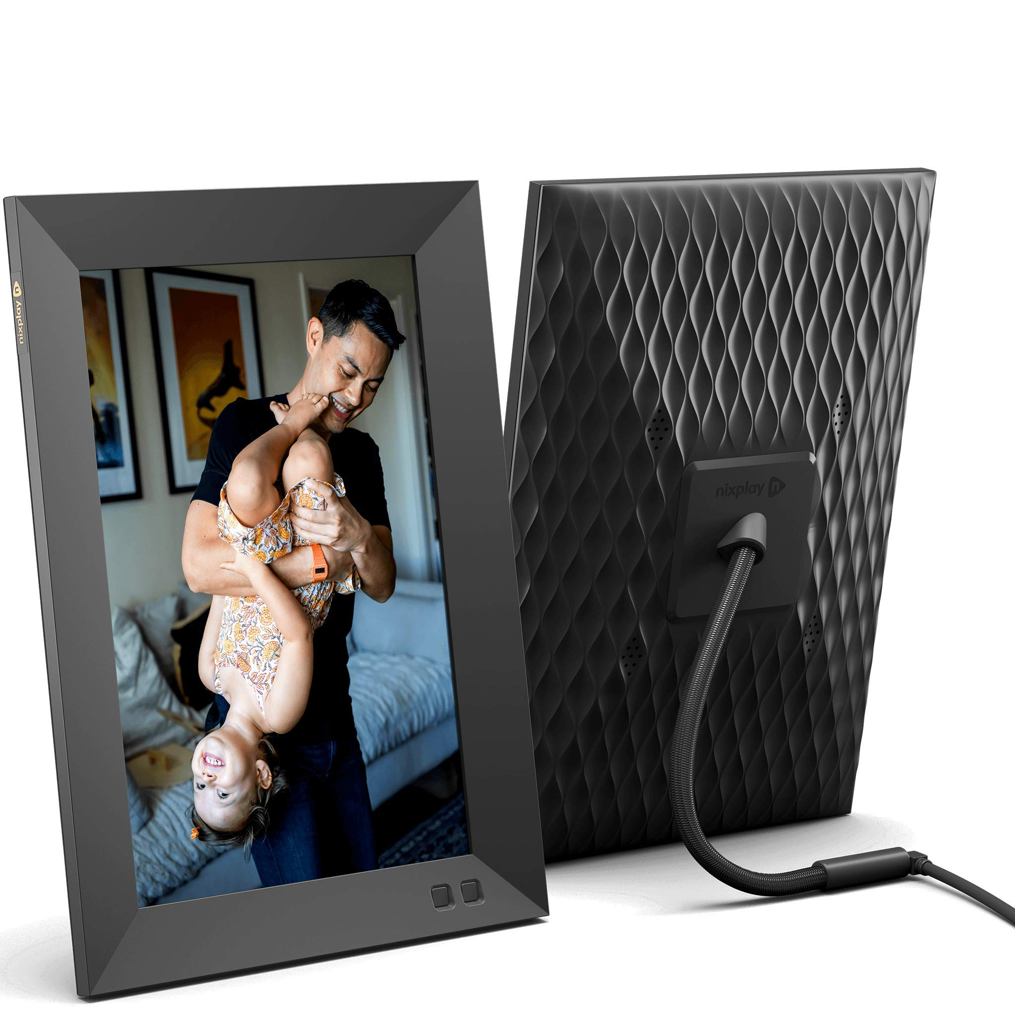 Nixplay Smart Digital Picture Frame 10.1 Inch, Share Video Clips and Photos Instantly via E-Mail or App, Black