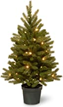 National Tree Company 'Feel Real lit Artificial Christmas Tree for Entrances Includes Pre-strung LED Lights and Pot Base -...