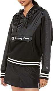 Champion Life Womens WL430550234 Sideline 1/2 Zip Hoodie - Center Chest Reflective Script Hooded Sweatshirt