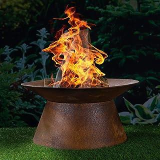 Feuerkorb mit Grillrost Feuerschale Lagerfeuer Feuerstelle Gartenfeuer