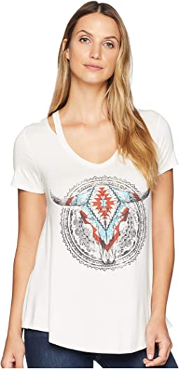 Short Sleeve V-Neck Graphic Tee