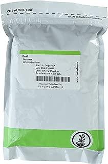 Genovese Basil Microgreens Seeds - Non-GMO Bulk Seed for Growing Micro Herbs, Indoor Gardening, Herb Garden, Micro Greens (1 Lb)