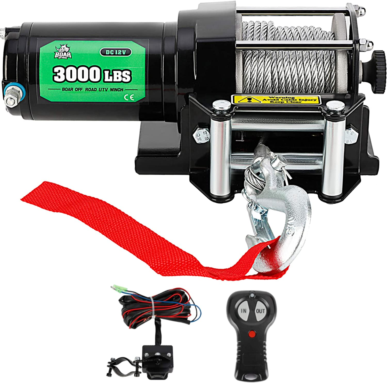 Off Road Boar 3000-Lb. Electric Winch Kit