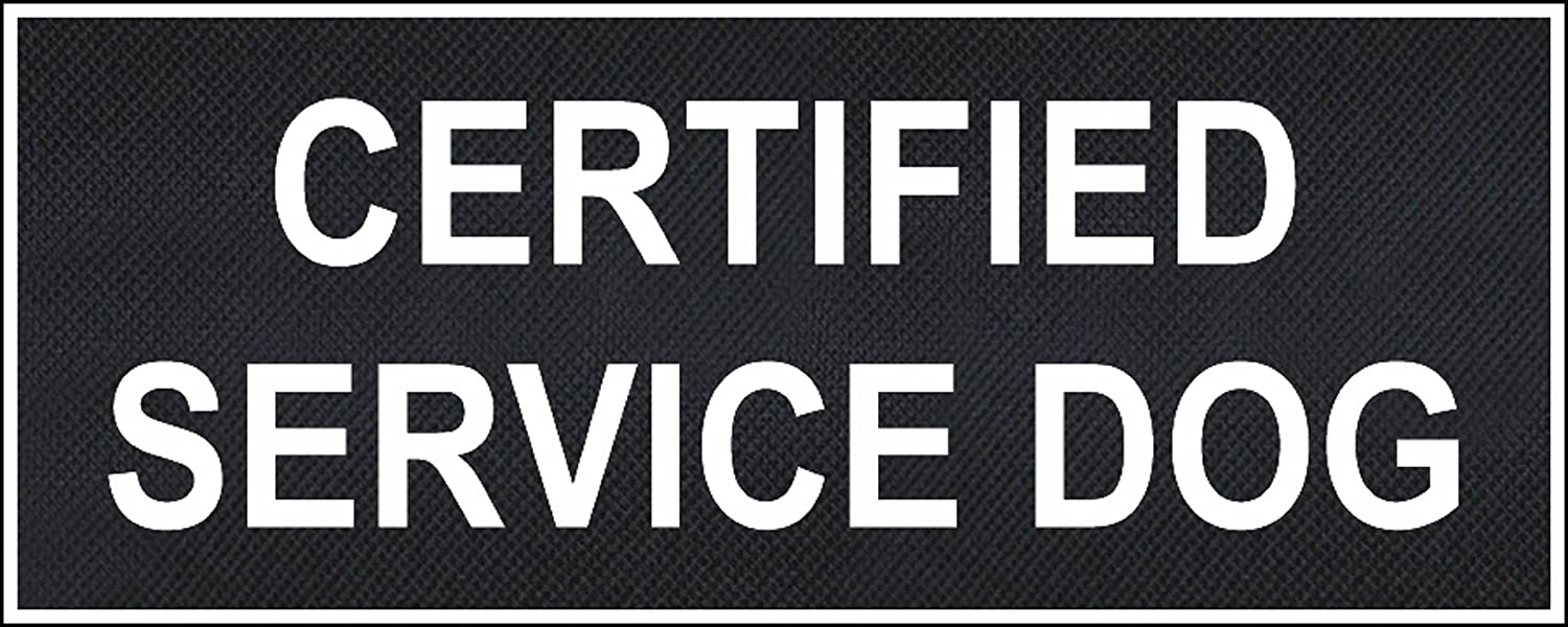 Certified Service Dog Large nylon velcro patches by Dean & Tyler.