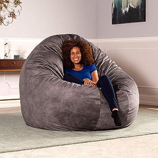 Jaxx 6 Foot Cocoon - Premium Giant Bean Bag for Adults - Padded  Microvelvet 193c3dc328311