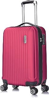 TravelCross Berkeley Classic 21'' Carry On Lightweight Hardshell Spinner Luggage (Pink)