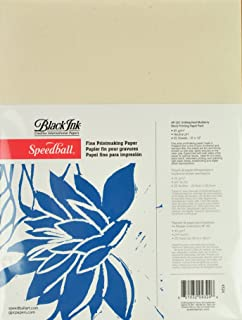 Speedball 9-Inch-by-12-Inch Fine Printmaking Paper, 25 Sheets Pack