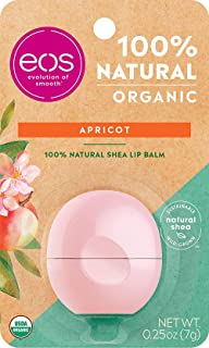 eos Natural & Organic Sphere Lip Balm - Apricot   Certified Organic & 100% Natural   Deeply Hydrates and Seals in Moisture...