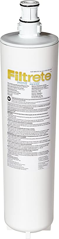 Filtrete Maximum Under Sink Water Filtration Filter Reduces 99 Lead Much More 3US MAX F01