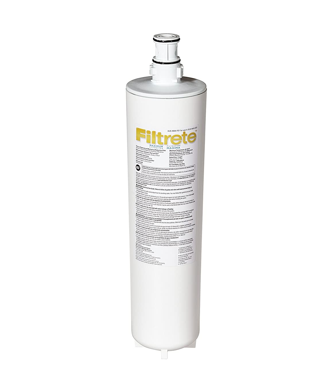 Filtrete Maximum Under Sink Water Filtration Filter, Reduces 99% Lead + Much More (3US-MAX-F01)