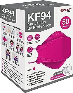 Best Trading 50 Cubrebocas KF94 Certificado, Tapabocas con 4 Capas de Protección contra Partículas, Ajustador Nasal Ocult...