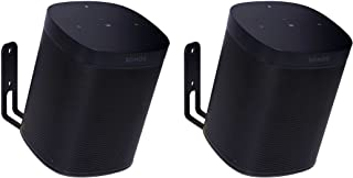 Vebos Wall Mount Sonos One Black 20 Degrees Set en Optimal Experience in Every Room - Allows You to Hang Your SONOS One Ex...