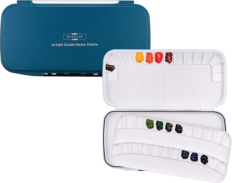 Mijello Max 74% OFF Double Decker Watercolor Palette Financial sales sale Wells Teal 40 Paint