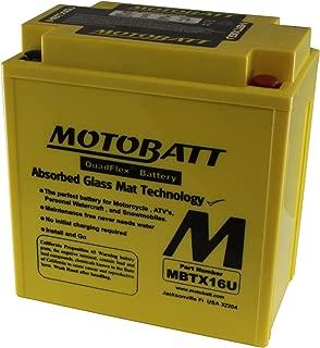 MotoBatt MBTX16U (12V 19 Amp) 250CCA Factory Activated QuadFlex AGM Battery
