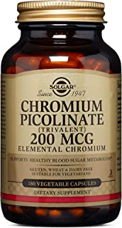 Solgar – Chromium Picolinate 200 mcg, 180 Vegetable Capsules