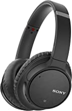 Sony Noise Cancelling Headphones WHCH700N: Wireless Bluetooth Over The Ear Headset with Mic for Phone-Call and Alexa Voice Control - Black