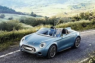 Mini Superleggera Vision Concept (2014) Car Art Poster Print on 10 mil Archival Satin Paper Blue Front Side Static View 20