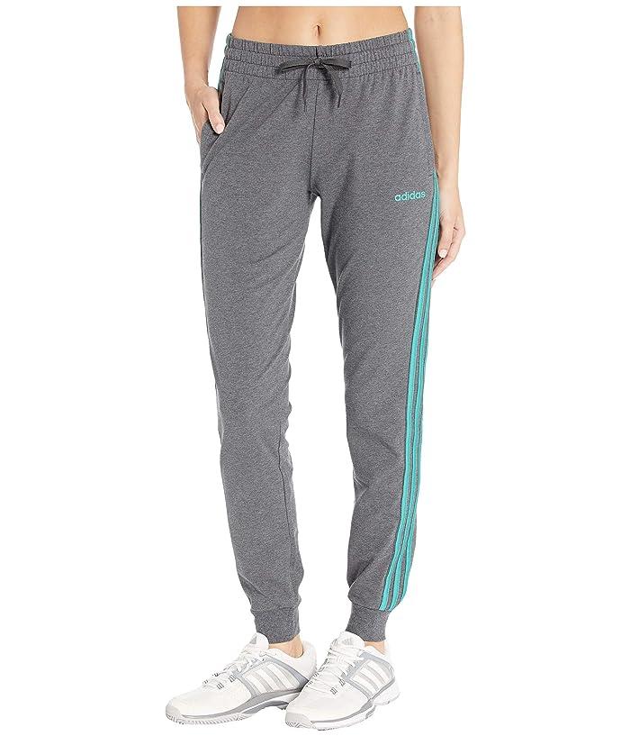 adidas Essential 3-Stripes Jogger (Dark Grey Heather) Women