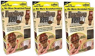 Furniture Feet Flexible Floor Protectors, Fits Legs 1 3/8