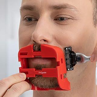 SleekGoatee Goatee Shaving Template & Lineup Tool | Fully Adjustable Beard Shaper & Shaving Guide for Men with Goatee | Sh...
