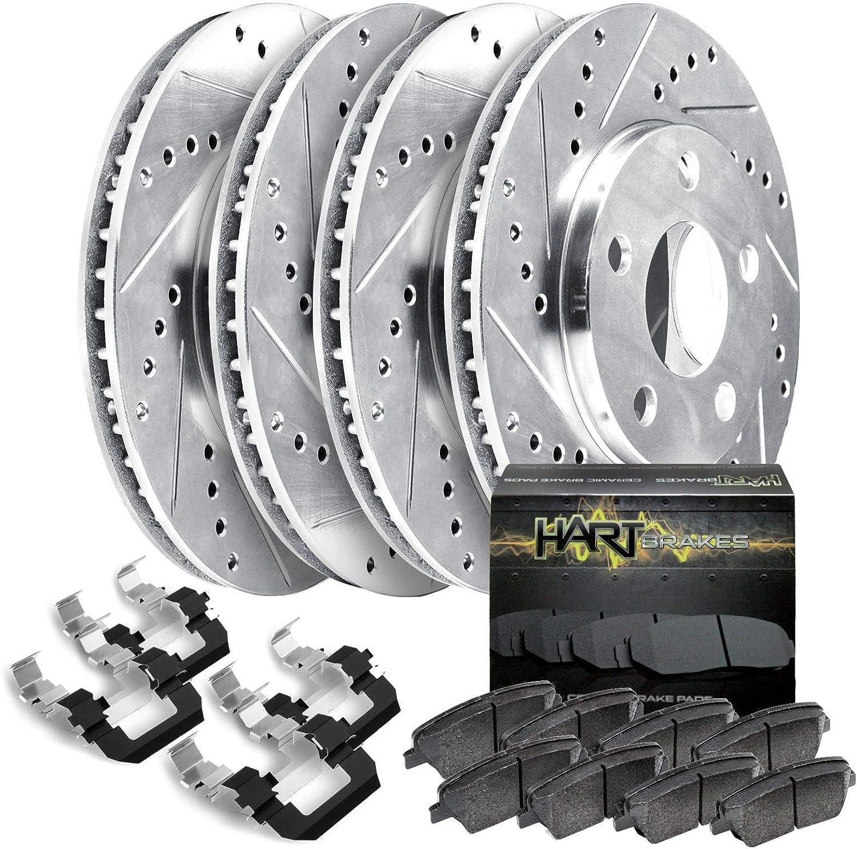 Fit 2014-2015 Mazda 6 HartBrakes Full Brake Kit Rare free Slot Rotor Drill