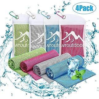 Awroutdoor 4 Pack Toalla de Enfriamiento - 100 x 30 cm Toalla de Hielo Fría Instantánea, Suave de Secado Rápido Toalla Deportiva de Secado Adecuado para Gimnasio Golf Escalada Running Yoga