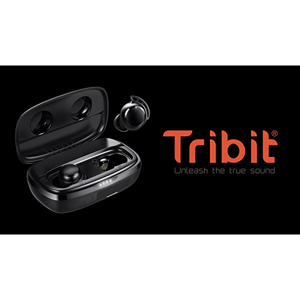 Wireless Earbuds, Tribit 100H Playtime Bluetooth 5.0 IPX8 Waterproof Touch Control True Wireless Bluetooth Earbuds with…