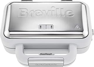 Breville VST070 Sandwich Toaster, 850 W, Grey and Textured Stainless Steel