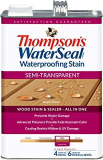 THOMPSONS WATERSEAL TH.042821-16 Semi-Transparent Waterproofing Stain, Maple Brown