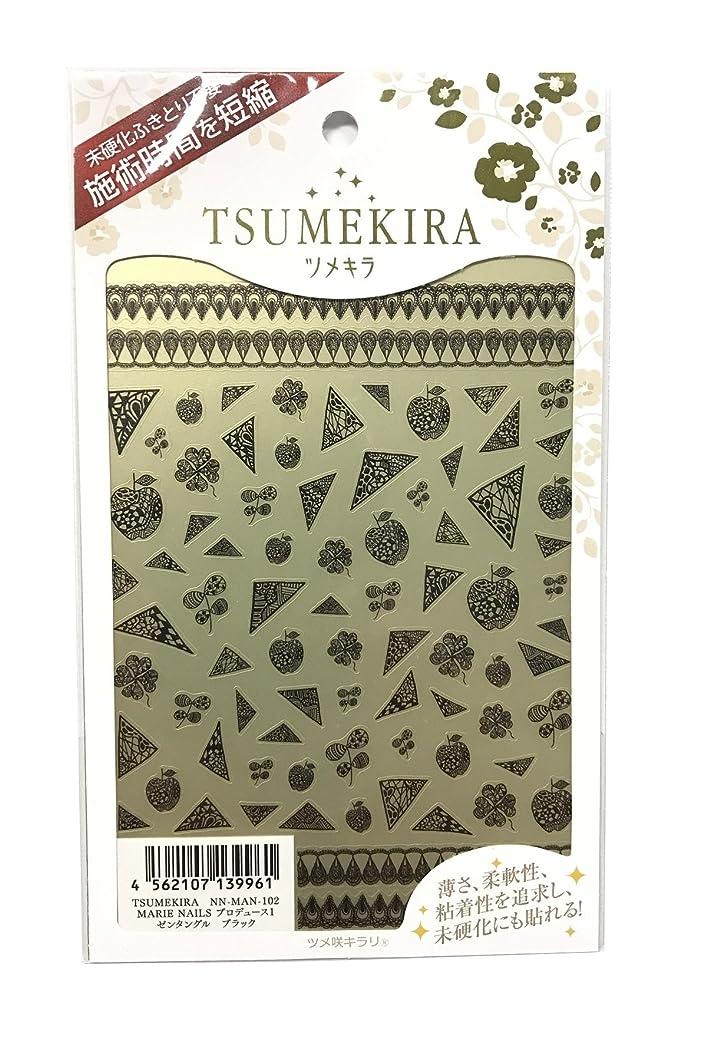 糸巡礼者ファンブルツメキラ(TSUMEKIRA) ネイル用シール ゼンタングル ブラック NN-MAN-102