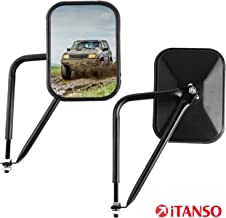 iTANSO Square Side View Adventure Mirror Fit For Jeep Wrangler 2007-2018 JK, JL Door Off Hinge Mirrors with Blind Spot Mirrors, Easy-Install & Shake-Proof