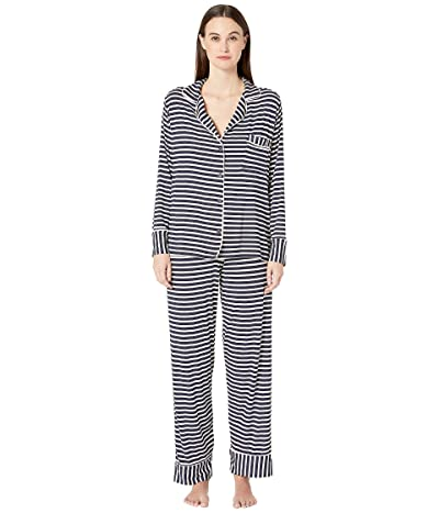 Maison Du Soir Monaco PJ Set (Navy Stripe 1) Women