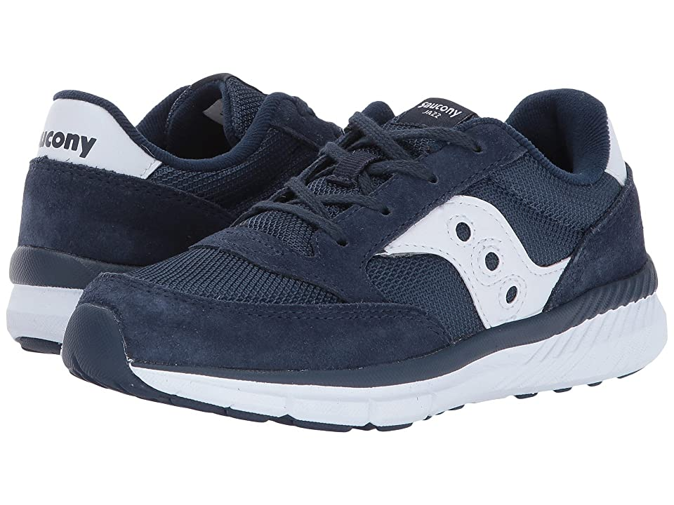 Saucony Kids Originals Jazz Lite (Little Kid/Big Kid) (Navy/White) Kids Shoes