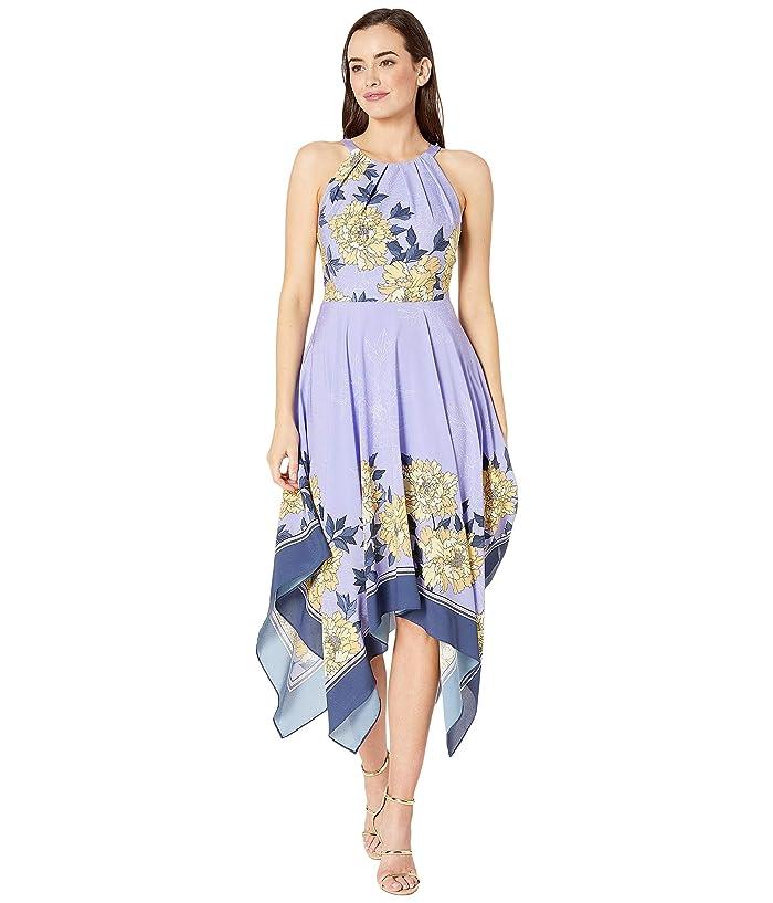 Adrianna Papell Blooming Handkerchief Dress (Yellow Multi) Women