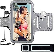 Gritin telefoonarmband voor iPhone SE 2020/11/11 Pro/XS/XR/X/8/7/6 Plus tot 6,5 inch, huidvriendelijke zweetbestendige spo...
