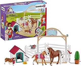 SCHLEICH SLH42458 Horse Club, Konie- Goście Hannah Z Suczką Ruby ,wielokolorowy