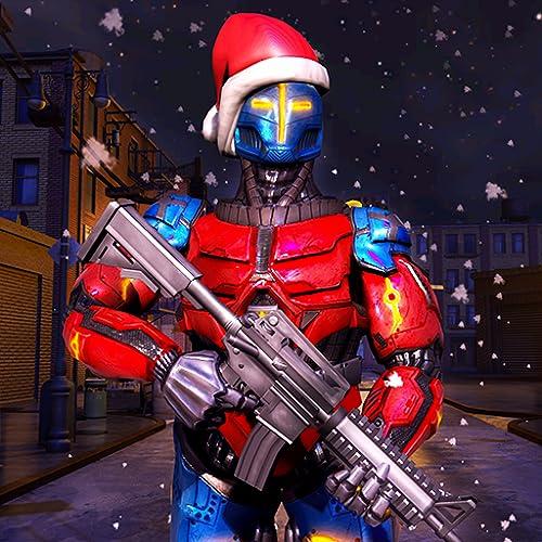 Christmas Eve Power Robot Rangers Attack: Legacy War Robot Game 3D
