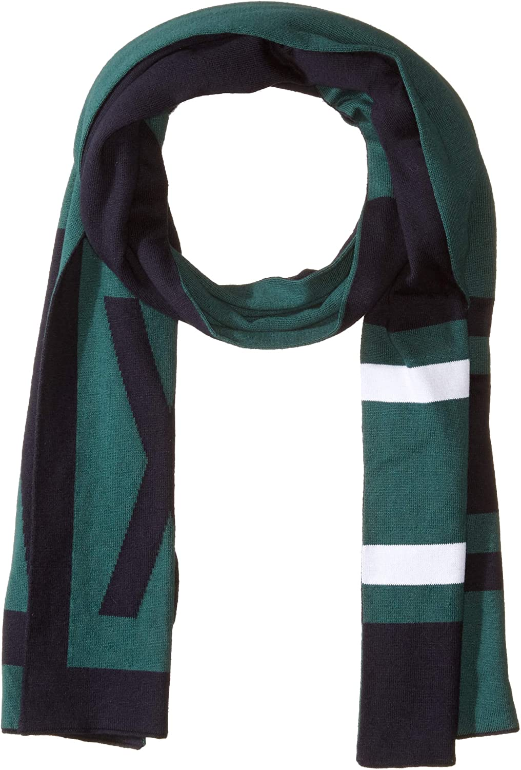 AX Armani Exchange mens Two-color Scarf With A x Logo