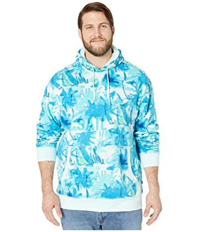 Nautica Big & Tall Big Tall Long Sleeve Hooded Pullover Knit (Blue) Men