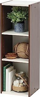 "IRIS USA UB-9030 Space Saving Shelf with Adjustable Shelves, 12""W x 35""H, Inch, Walnut Brown"