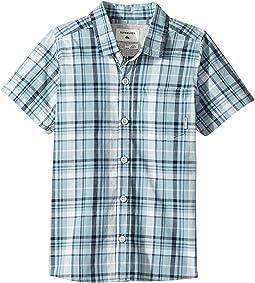 Everyday Check Short Button Up Sleeve Shirt (Toddler/Little Kids)