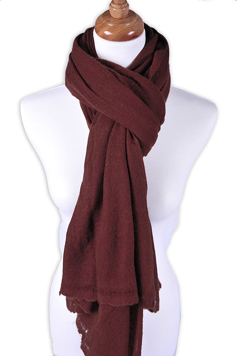 Zentopia classic cashmere blend handmade hand dye scarf in multiple color