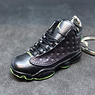 Air Jordan XIII 13 Retro Altitude Black Green OG Sneakers Shoes 3D Keychain 1:6 Figure