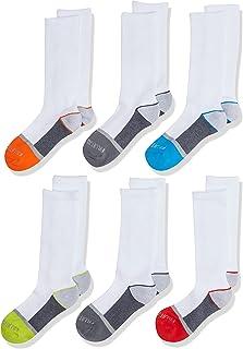 Fruit of the Loom boys 6-pair Half Cushion Crew Socks Casual Sock