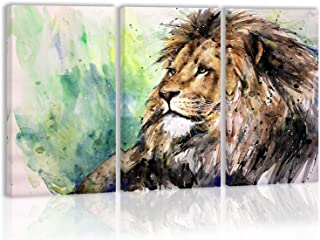 Watercolor Lion Wall Art Decor Canvas Painting Kitchen Prints Pictures for Home Living Dining Room
