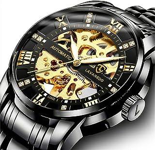 Relojes, Relojes Hombre Mecánico Automático de Lujo de Estilo Clásico Impermeable Números Esfera con Correa de Acero Inoxi...