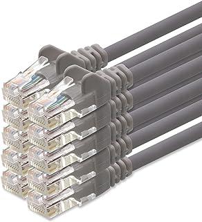 1aTTack - Cable de red UTP con conectores RJ45 (cat. 5, 10 unidades), gris - 0.25 metros
