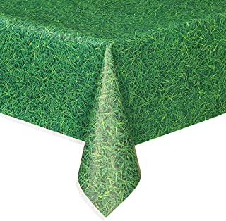 Unique Green Grass Plastic Tablecloth, 108