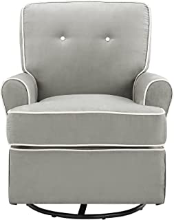 Baby Relax The Tinsley Nursery Swivel Glider Chair, Grey